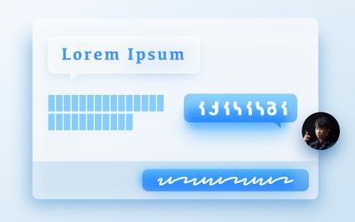 Lorem Ipsum —— 用在 UI 介面設計上的假文假字。