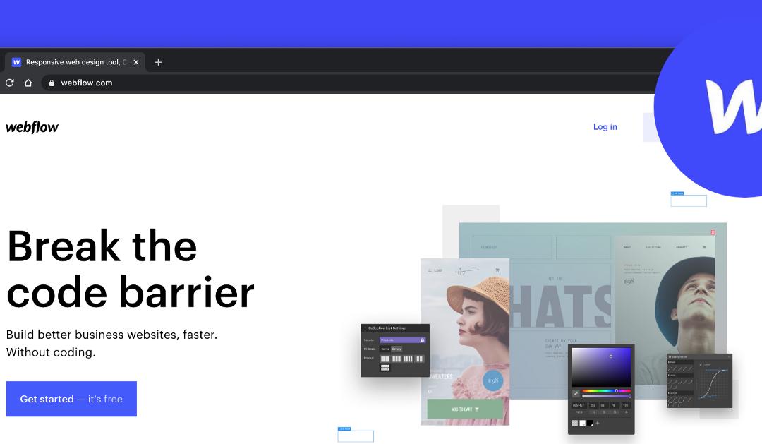 網站架設新平台 Webflow|最適合設計師製作網站的好選擇。